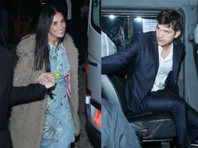 Demi Moore & Ashton Kutcher Reunited at Wedding
