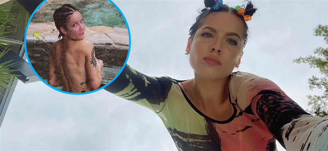 Halsey Bares Her Backside To Get Your Attention On Earthly Matters