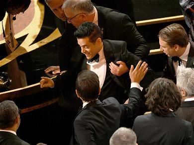 Rami Malek Treated by Oscar Medics After Falling Off Stage