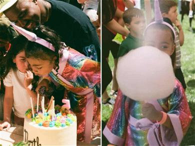 Kim Kardashian Shows Off Unreleased Photos From North West's 5th Birthday Party
