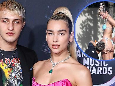 Dua Lipa Gets Cheeky With Boyfriend Anwar Hadid In Miami