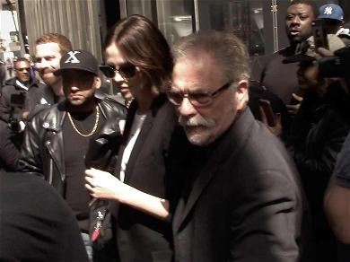 Ronnie the Limo Driver Fights Through Huge Crowd with Charlize Theron After Howard Stern Interview