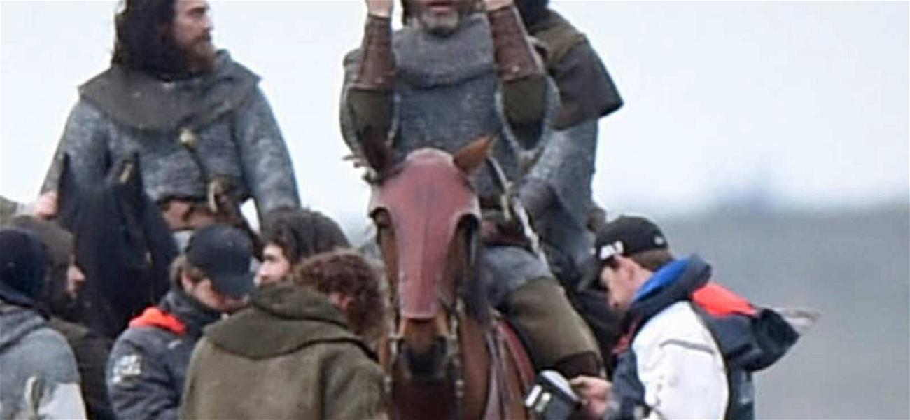 Chris Pine Rides a Horse, Flips the Bird in Scotland