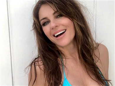 Elizabeth Hurley's Exposed Snow Globes Spark X-Rated Reactions