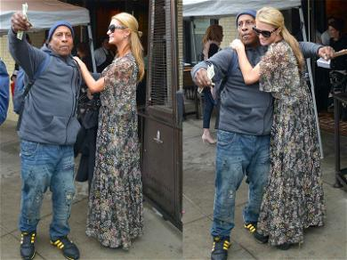 Paris Hilton Makes Some Guy's Day with Cash and a Hug