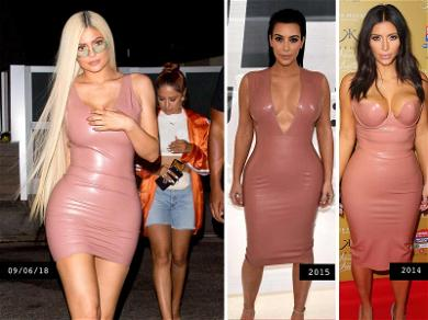 Kylie Jenner Jacked Kim Kardashian's Latex Look More Than Once