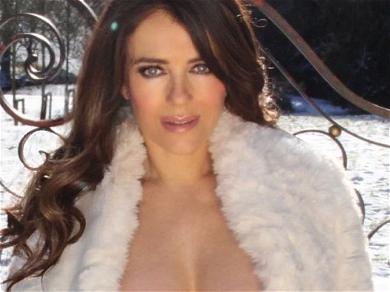 Elizabeth Hurley Backs It Up In Cheeky Bikini With Rear View