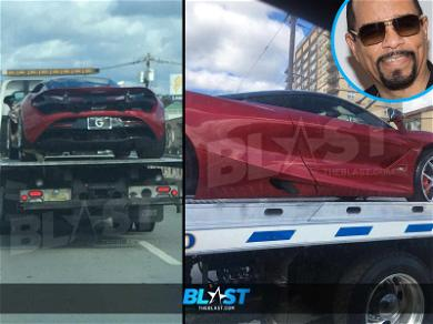 Ice-T's McLaren Sports Car Seen On Tow-Truck After Toll Arrest