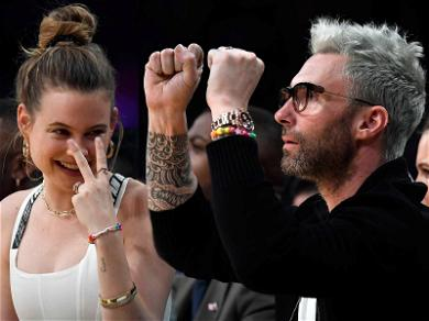 Adam Levine & Behati Prinsloo Went Through So Many Emotions During Lakers Victory
