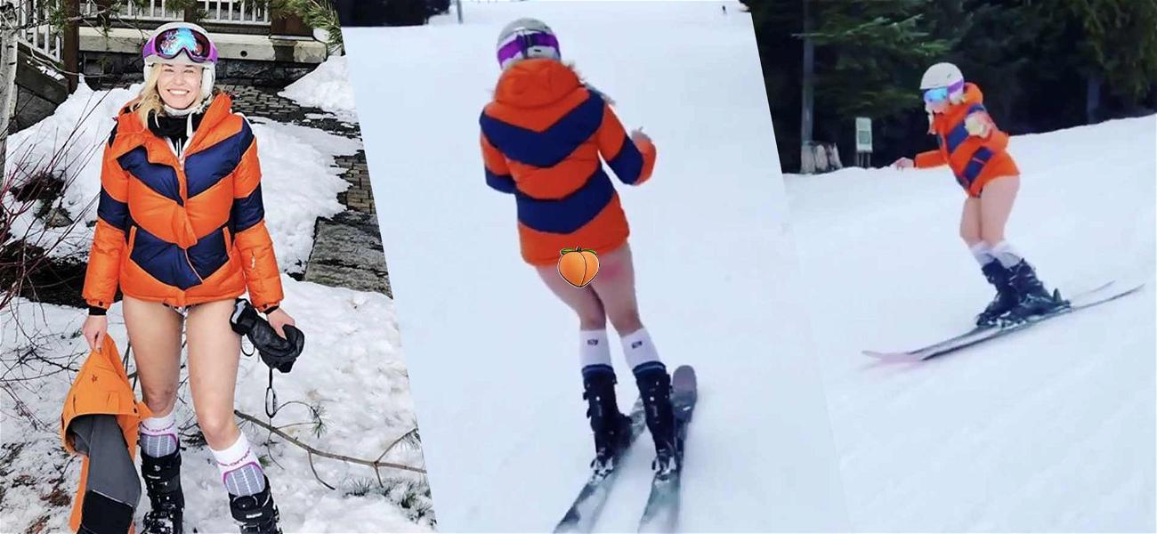 Chelsea Handler Hits The Slopes With No Pants! Drinking & Smoking To Celebrate Turning 45