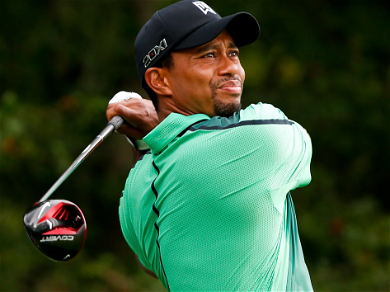 Tiger Woods Looking GREAT In A Cast, On Crutches In First Photo Since Accident!