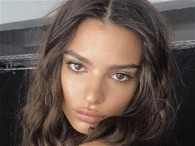 Emily Ratajkowski Gets 'Wine Drunk' In Nude Lingerie For Bathroom Thirst Trap