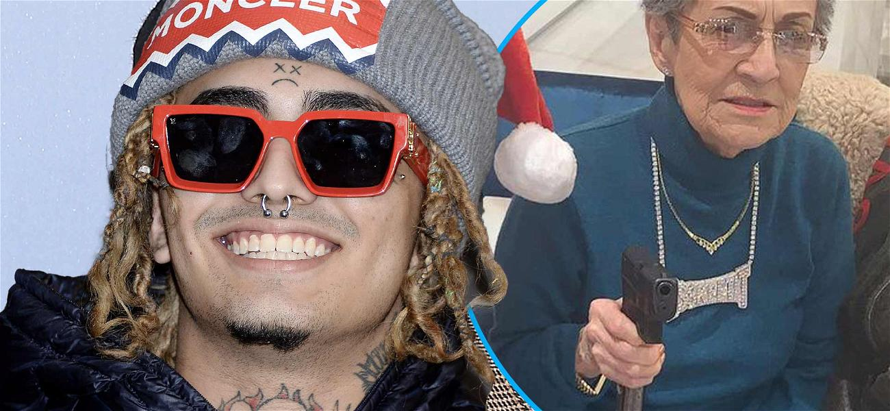 Lil Pump Gives His Grandma A Gun For Photo Op And Buys A Monkey With A Collared Shirt