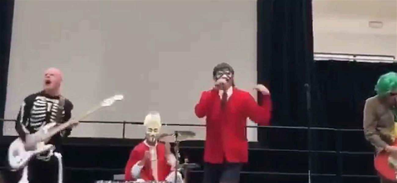 Red Hot Chili Peppers Play Surprise Halloween Show at Chad Smith's Son's School