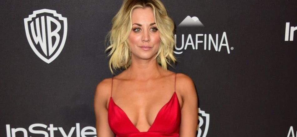 Kaley Cuoco Stuns In Gold Sheep Tank & Beanie For 'Mini Cup Of Cuoco'