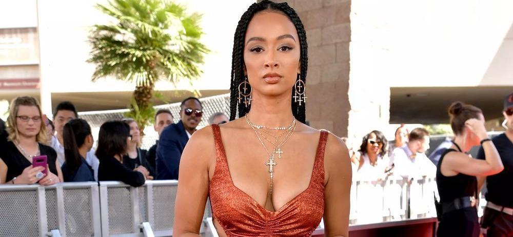 Draya Michele Sweats In Spandex Sports Bra From Her Bedroom In Revealing Workout That 'Must Squeeze'