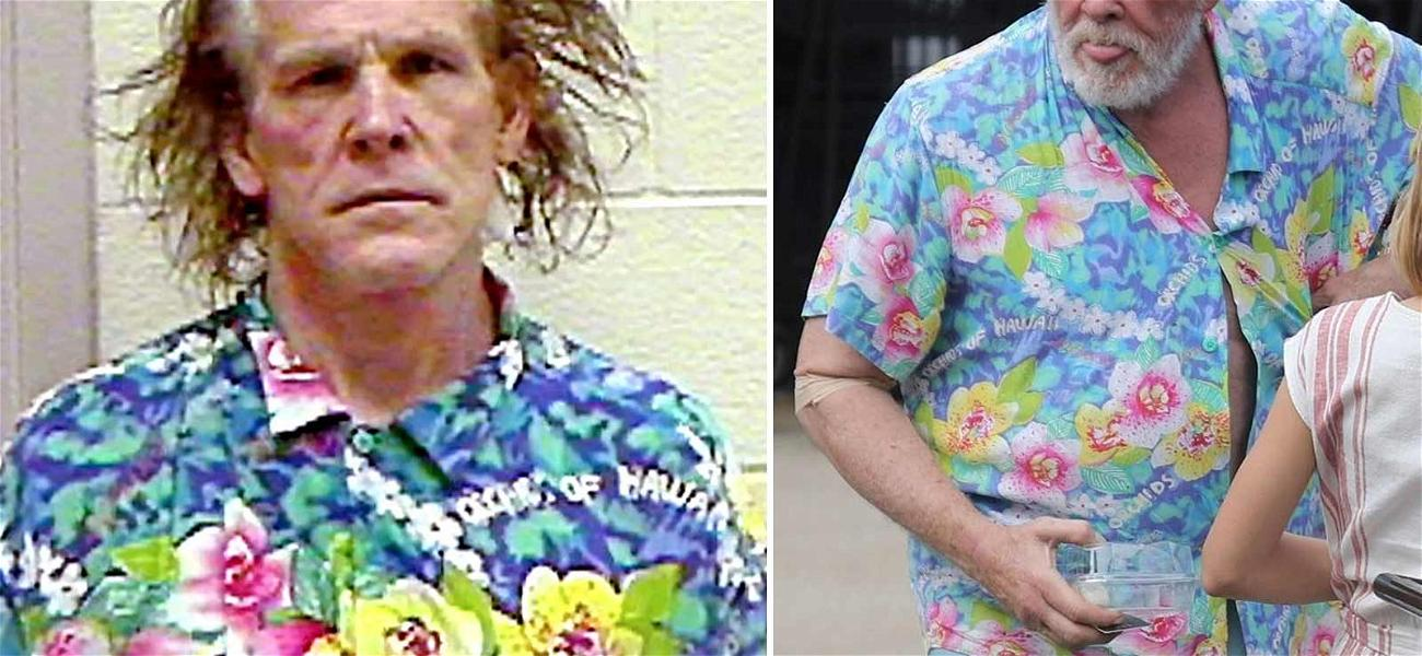 Nick Nolte Still Sporting That Infamous Mugshot Shirt 16 Years Later