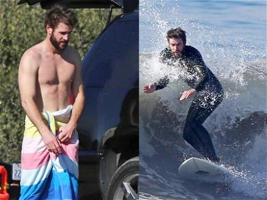 Liam Hemsworth Shreds the Waves and Sheds His Shirt