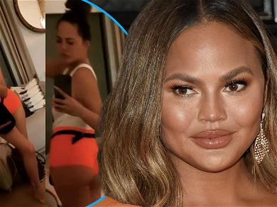 Chrissy Teigen Wears 'Hooters Girl' Outfit For Party, She Used To Be A Hostess!