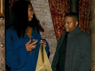 Nas Seen Out On Dinner Date With Actress Tasha Smith