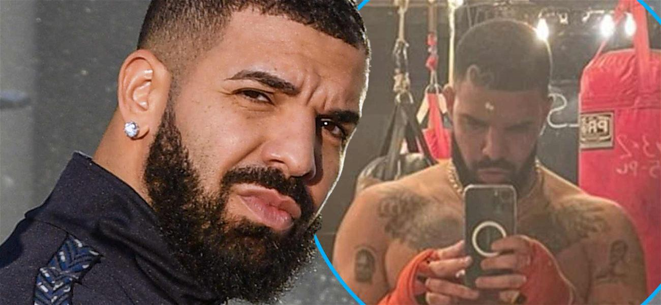 Call Him Beef-Drake! Rapper Shows Of Shredded Six-Pack In Shirtless Selfie