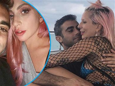 Lady Gaga's BF Passes The Lipstick Embarrassment Test On Valentine's Day: 'Do I Have Lipstick All-Over Me?'