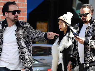 Nicolas Cage Looks Like A Total Bada– While Holding Hands With New GF One Week After Visiting His Own Tomb
