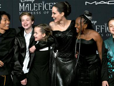 Angelina Jolie Rocks Sparkling Scorpion Dress at 'Maleficent' Premiere