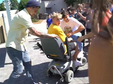 Jake Paul Run-In With Theme Park Security After Mobility Scooter Romp