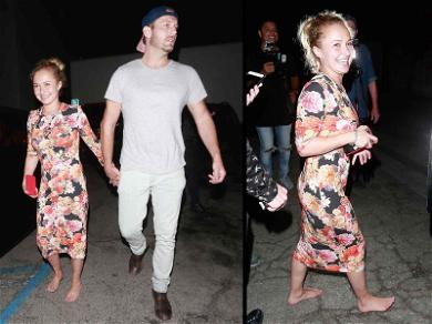 Hayden Panettiere No Shoes, All Smiles