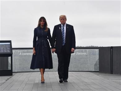 Coat Worn By Melania Trump In 9/11 Tribute Photo Stirs Controversy On Social Media