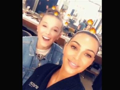 Millie Bobby Brown Meets Her Idol … And It's Kim Kardashian