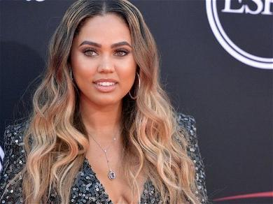 Ayesha Curry Stuns In Unbuttoned Shirt With Soaking-Wet Hair By A Lake
