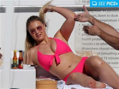 Iskra Lawrence Tickled Pink During Miami Getaway