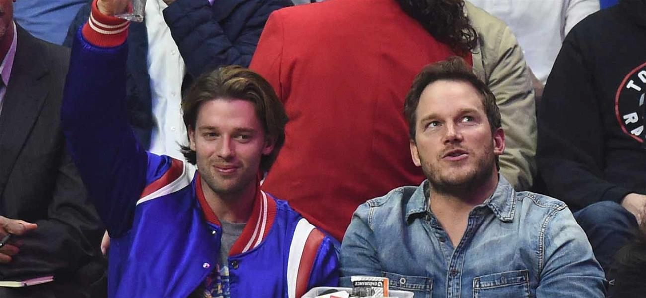 Chris Pratt Scores Boyfriend Points with Schwarzenegger's Brother at Basketball Game