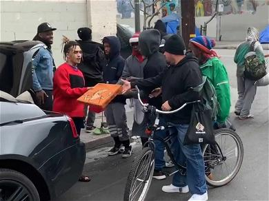 Lil Pump is 'HOT-N-READY' for the Homeless On Skid Row