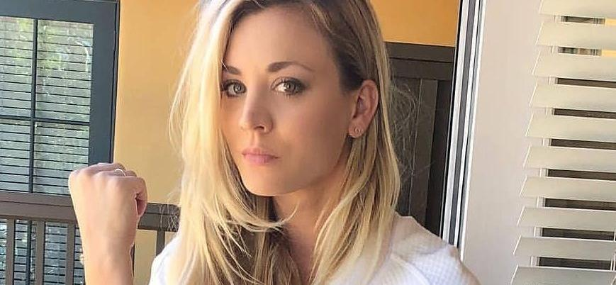 Kaley Cuoco Suffers Technical Malfunction In Skintight Spandex Crouch