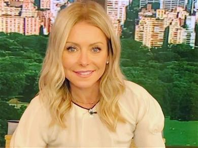 Kelly Ripa Unfussed In Glitter Dress Amid Weight Worries