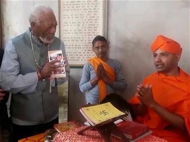 Morgan Freeman Has Divine Meeting With Spiritual Leader in Nepal