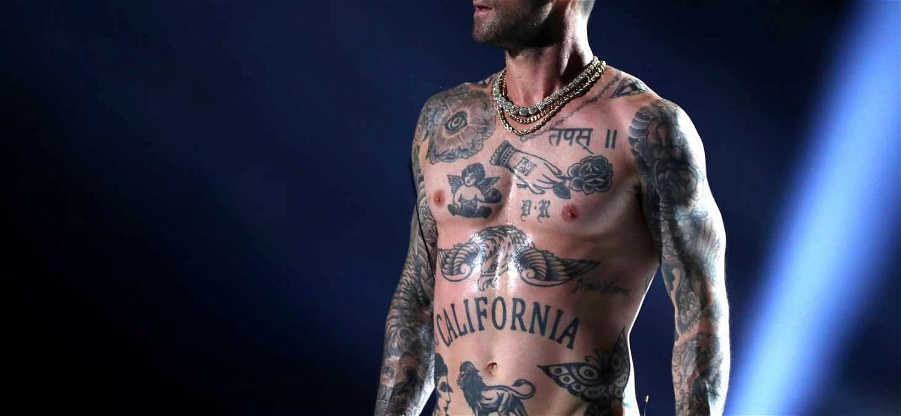 Adam Levine Goes Shirtless to Try and Save Meh Halftime Show