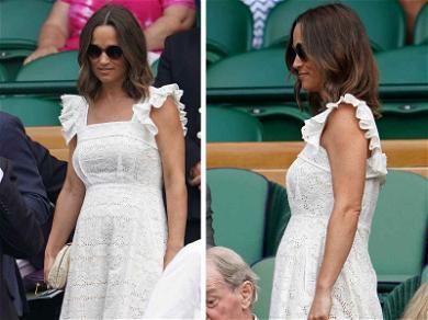 Pippa Middleton Rocks Her Baby Bump At Wimbledon