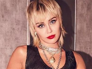 Miley Cyrus Kisses 2020 Goodbye In Frontless Top