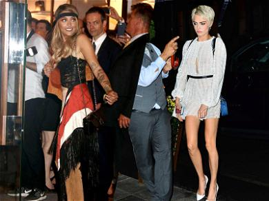Rumored GFs Paris Jackson and Cara Delevingne Meet Up After Hours