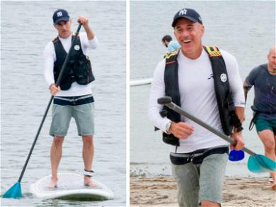Matt Lauer Finally a Stand Up Guy … During Charity Paddleboarding Race