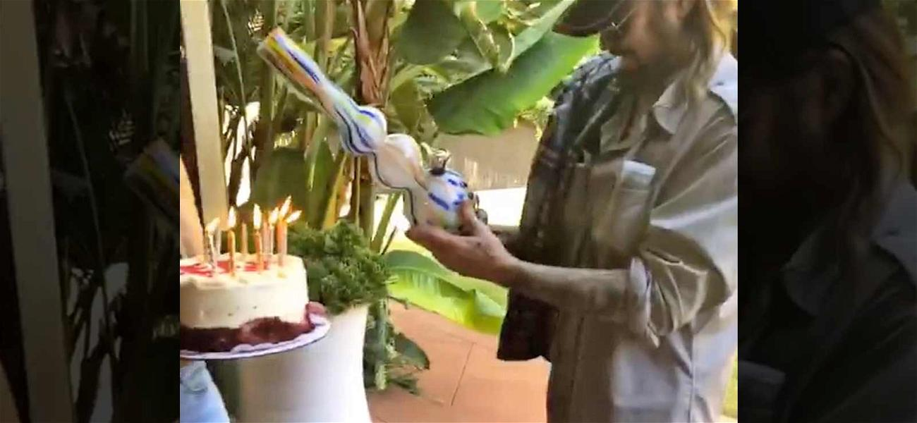 Billy Ray Cyrus Got Gifted a Birthday Bong From Daughter Noah