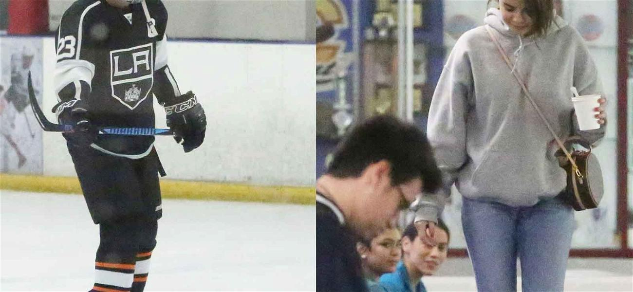 Justin Bieber and Selena Gomez Enjoy Date Night Filled With Hockey and Jesus