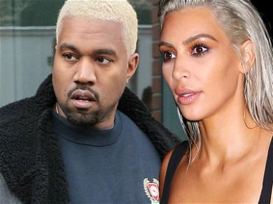 Kim Kardashian And Kanye West Swap Hair Colors