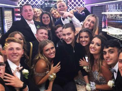 Bella Hadid Crashes Senior Prom Party Bus, Gives Out Fashion Props