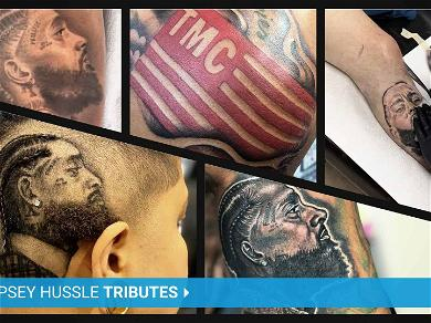 Nipsey Hussle Fans Get Tattoos & Haircuts to Honor Slain Rapper