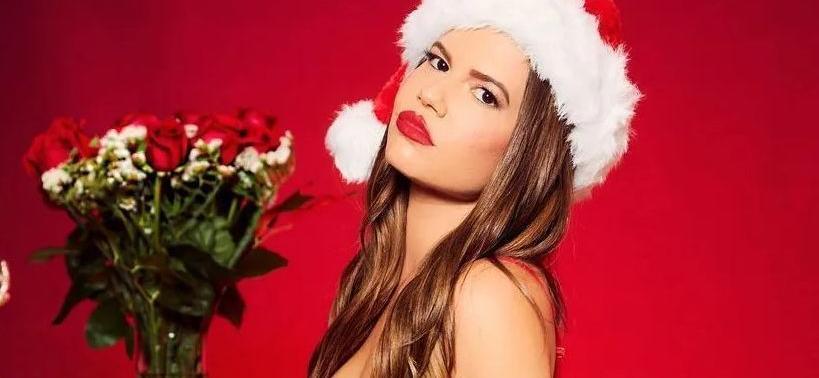Chanel West Coast Santa's Naughtiest Elf In Shirtless Xmas Pajamas